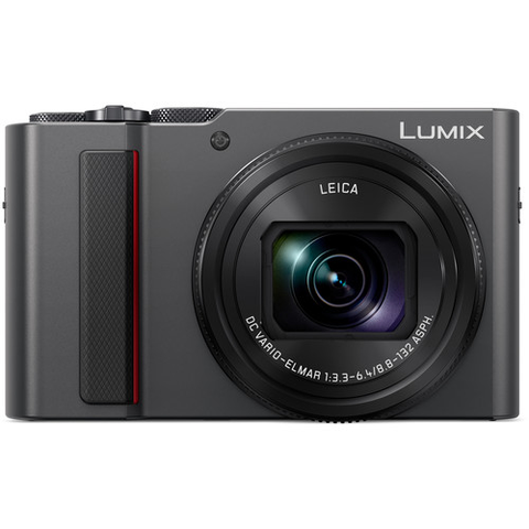 Panasonic Lumix DC-ZS200 Digital Camera (Silver) by Panasonic at bandccamera
