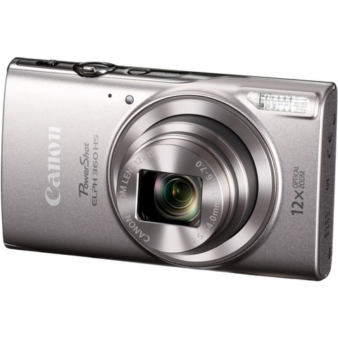 Canon PowerShot ELPH 360 HS Digital Camera (Silver) - B&C Camera