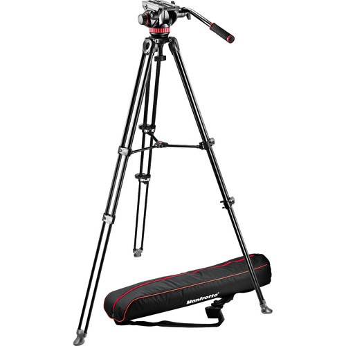 Manfrotto MVH502A Fluid Head and MVT502AM Tripod with Carrying Bag - B&C Camera - 1