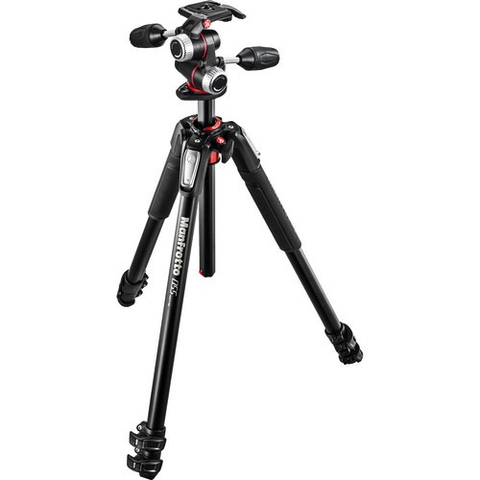 Manfrotto MT055XPRO3 Tripod with 3-Way Pan/Tilt Head by Manfrotto at B&C Camera