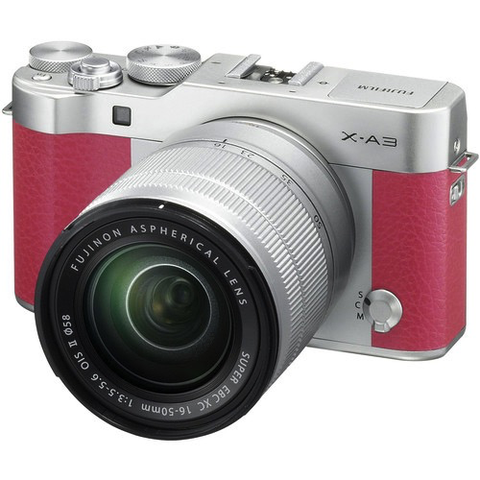 Fujifilm X-A3 Camera and Lens Kit - Pink