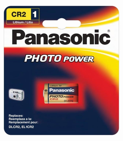 Panasonic CR2 Photo Power Lithium Battery - B&C Camera