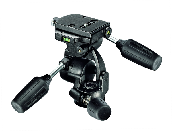 Manfrotto 3-Way Pan/Tilt Tripod Head with RC4 Quick Release Plate by Manfrotto at B&C Camera