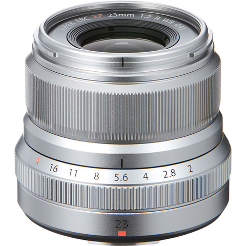 Fuji XF 23mm F2 R WR Silver by Fujifilm at bandccamera