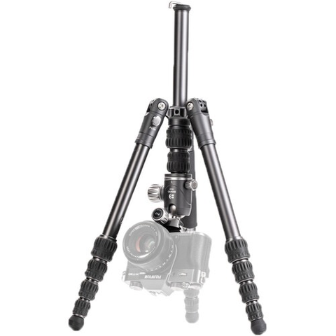 Benro Bat Aluminum Zero Series Travel Tripod/ Monopod with VX20 Ballhead, 5 Leg Sections, Twist Leg Locks, Padded Carrying Case