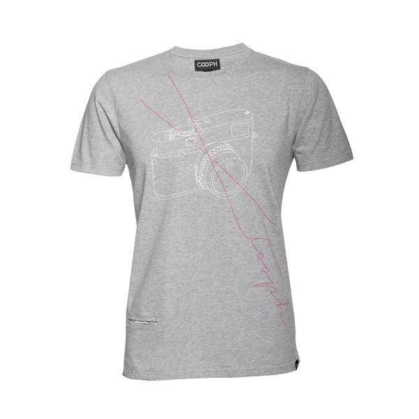 COOPH T-Shirt STITCHCAM (Heather Gray)-Medium - B&C Camera