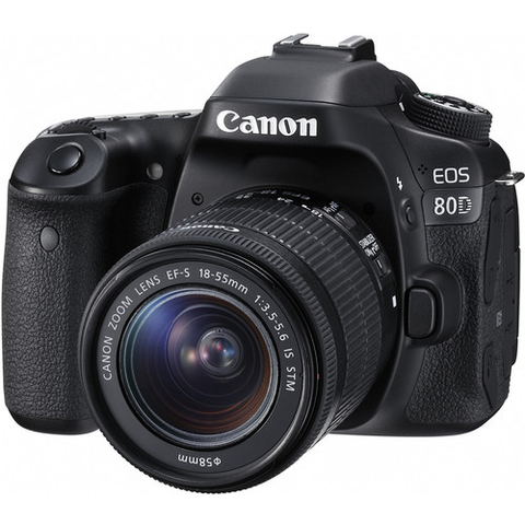 Canon EOS 80D DSLR Camera with 18-55mm Lens - B&C Camera