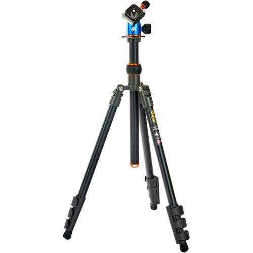 3 Legged Thing Punks Patti Tripod with AirHed Mini Ball Head (Gray and Blue with Copper Accents) by 3leggedthing at bandccamera