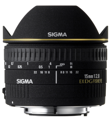 Sigma 15mm F2.8 EX DG Diagonal Fisheye Lens for Nikon - B&C Camera