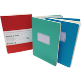 Hahnemühle Sketch & Note Booklet Bundle (Cerise and Paprika Covers, A6, 20 Sheets Each)