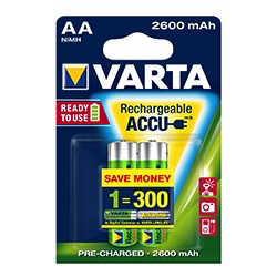 Varta Rechargeable AA Batteries (2 Pack) at B&C Camera