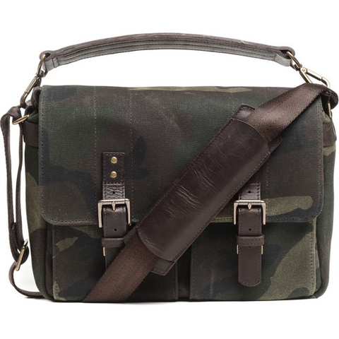 ONA Prince Street Camera Messenger Bag (Camouflage, Waxed Canvas) by ONA BAGS at bandccamera