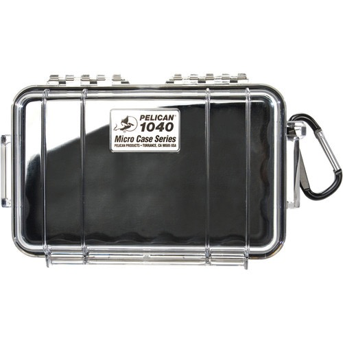 Pelican 1040 Micro Case (Clear/Black) by Pelican at bandccamera
