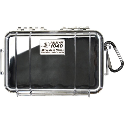 Pelican 1040 Micro Case (Clear/Black) by Pelican at B&C Camera