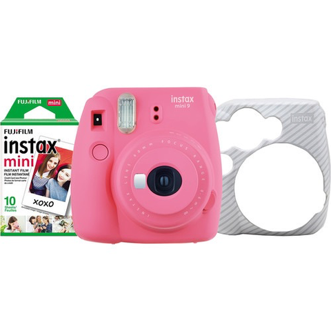 Fujifilm instax Mini 9 Holiday Bundle Flamingo Pink
