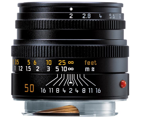 Leica Summicron-M Normal 50mm f/2 Manual Focus Lens (Black) by Leica at bandccamera