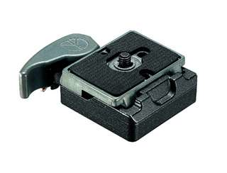 Manfrotto 323 RC2 System Quick Release Adapter with 200PL-14 Plate by Manfrotto at bandccamera