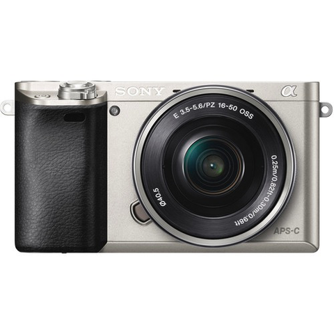 Sony Alpha a6000 Mirrorless Digital Camera with 16-50mm Lens (Silver) by Sony at bandccamera