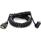 Atomos ATOMCAB013 Coiled Right-angle Micro HDMI to Full HDMI Cable (50-65cm) - B&C Camera