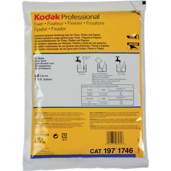 Kodak Fixer (Powder) for Black & White Film & Paper