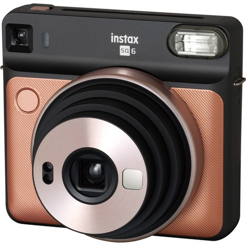 Fujifilm INSTAX SQUARE SQ6 Instant Film Camera (Blush Gold) by Fujifilm at bandccamera