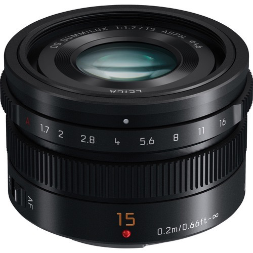 Panasonic Lumix G Leica DG Summilux 15mm f/1.7 ASPH Lens by Panasonic at B&C Camera