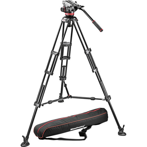 Manfrotto MVH502A Fluid Head and 546B Tripod System with Carrying Bag by Manfrotto at B&C Camera
