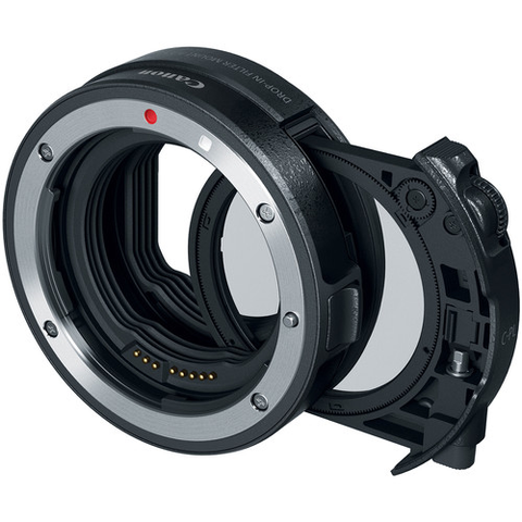 Canon Drop-In Filter Mount Adapter EF-EOS R with Circular Polarizer Filter