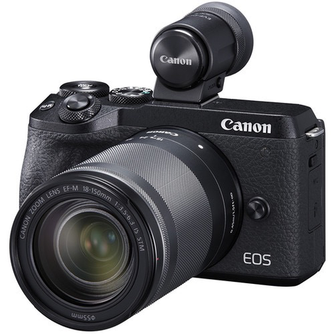 Canon EOS M6 Mark II Mirrorless Digital Camera with 18-150mm Lens and EVF-DC2 Viewfinder (Black) by Canon at B&C Camera