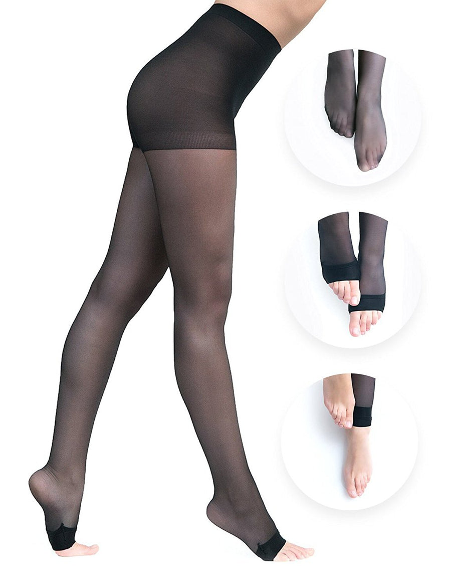 Convertibles Pantyhose - Double Black Pack