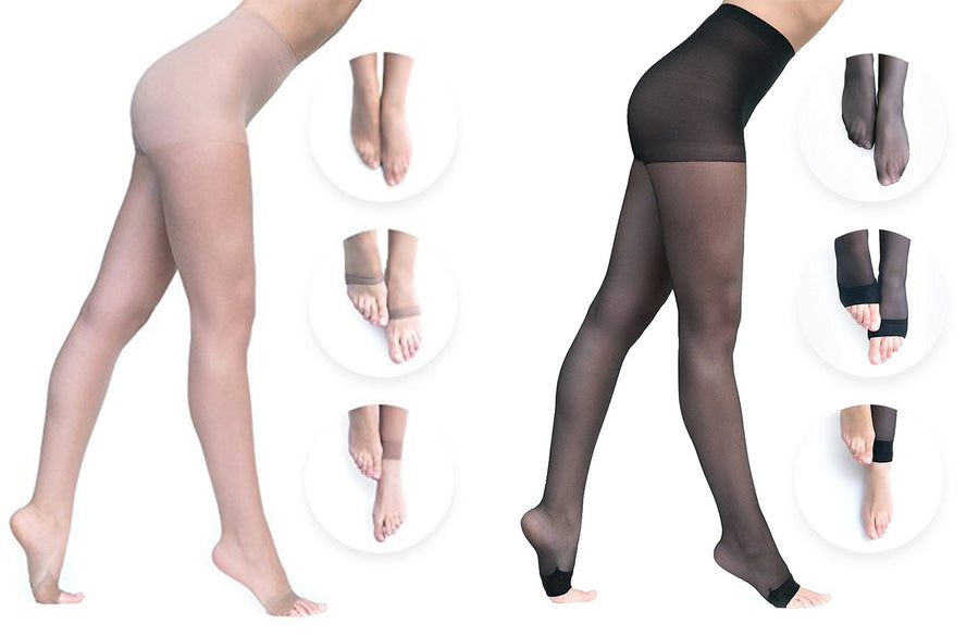 Convertibles Pantyhose - Combo Pack: Both Colors - Convertibles Pantyhose