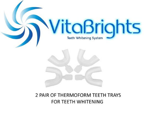 VITABRIGHTS 2 PAIR OF THERMOFORM TEETH WHITENING TRAYS