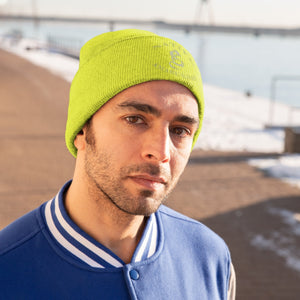 Embroidered Native Amaru-Khan Knit Beanie