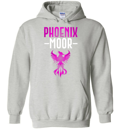 Fire Bird Phoenix Moor Hoodie - Royal Violate & White