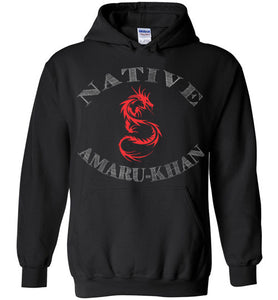 Native Amaru-Khan Hoodie - Red & White
