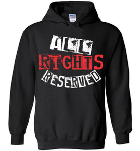 All Rights Reserved Hoodie - Red & White