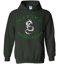 Load image into Gallery viewer, Native Amaru-Khan Hoodie - Gia Green & White