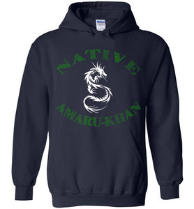 Native Amaru-Khan Hoodie - Gia Green & White