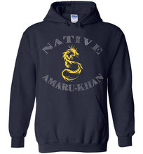 Load image into Gallery viewer, Native Amaru-Khan Hoodie - Mayan Gold & White