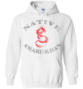 Native Amaru-Khan Hoodie  - Red & Black