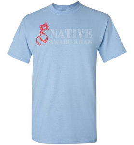 Native Amaru-Khan Red & White Tee -2