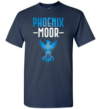 Load image into Gallery viewer, Fire Bird Phoenix Moor Tee - Ocean Blue & White