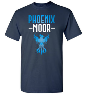 Fire Bird Phoenix Moor Tee - Ocean Blue & White