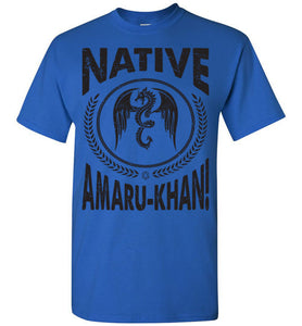 Native Amaru-Khan Tee Black Font - 1