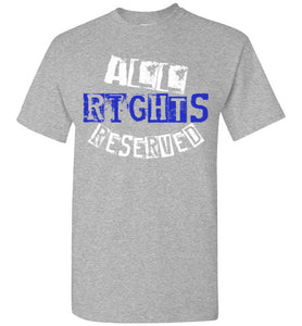 All Rights Reserved Tee - Blue
