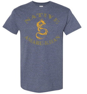 Native Amaru-Khan Tee - Mayan Gold