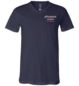 Phoenix Moor V-Neck - Red & White