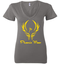 Load image into Gallery viewer, Women's Phoenix Moor Gold Phoenix V-Neck Tee - 1
