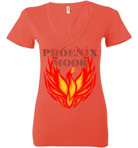 Women's Phoenix Moor Fire Bird V-Neck Tee - 1