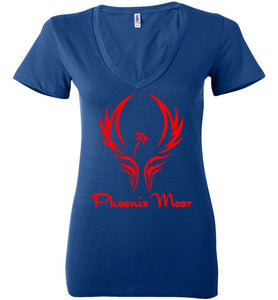 Women's Phoenix Moor Red Phoenix V-Neck Tee - 1